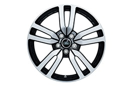 "Alloy Wheel - 20"" 5 Split-Spoke, 'Style 510', with Diamond Turned and Gloss Black finish"