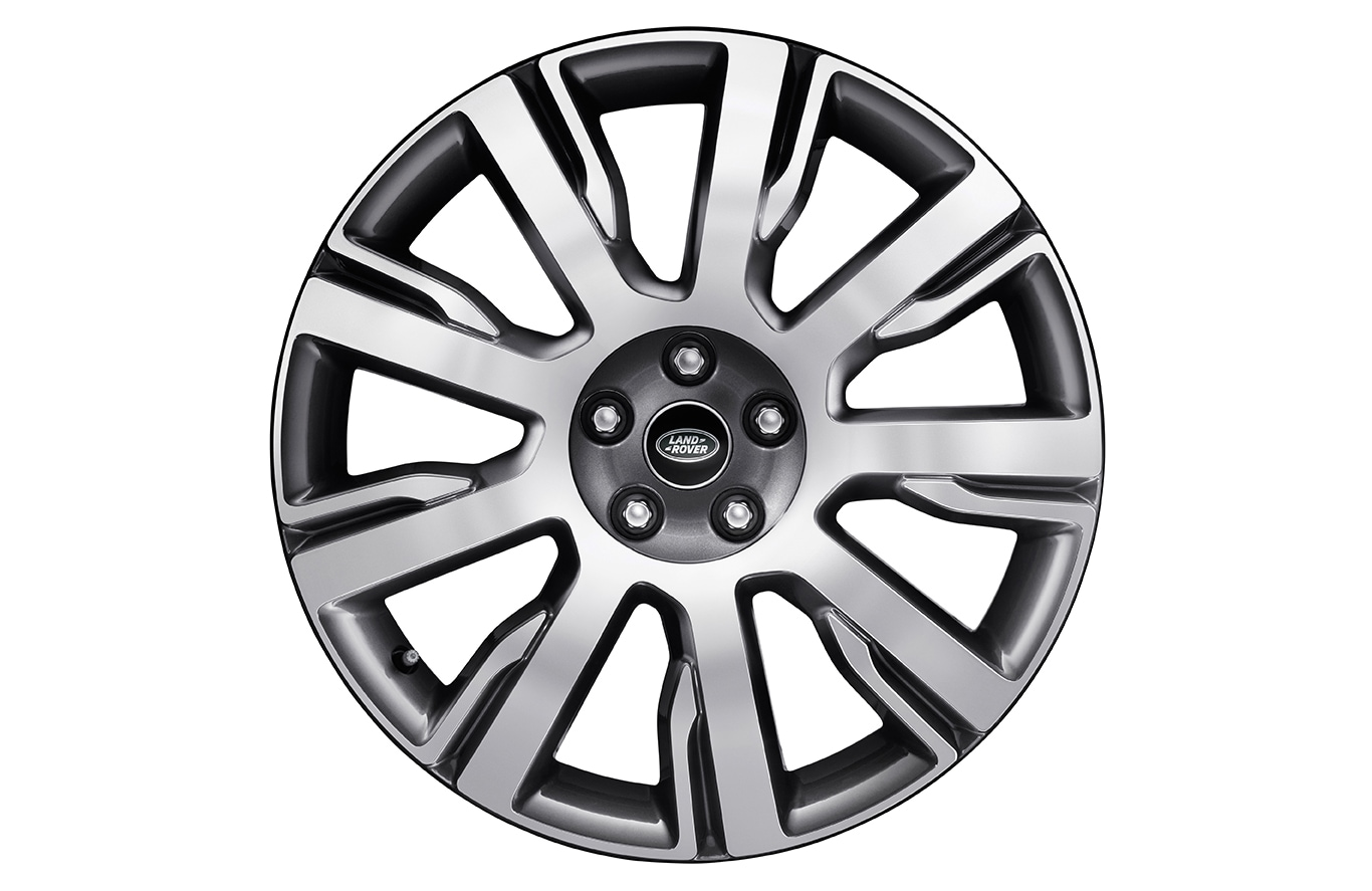 "Alloy Wheel - 21"" Style 9002, 9 spoke, Diamond Turned finish"