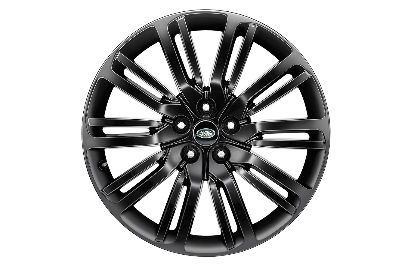 "Alloy Wheel - 21"" Style 1012, 10 split-spoke, Gloss Black"