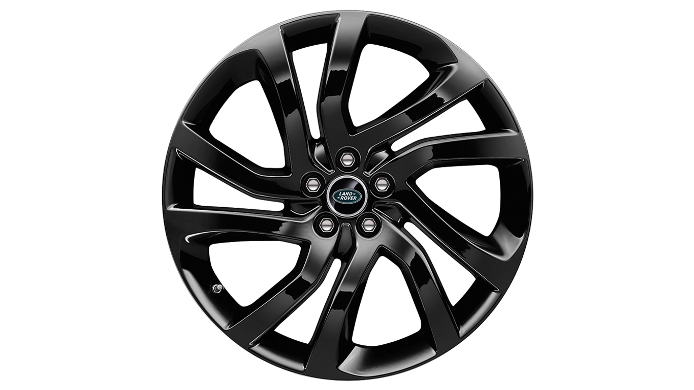 "Alloy Wheel - 20"" 5 Split-Spoke, 'Style 5011', with Gloss Black finish"