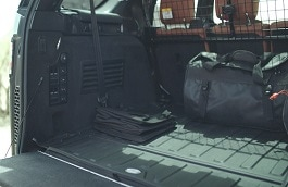 Loadspace Rubber Mat - Ebony, with Rear Air Conditioning
