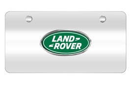 License Plate - Land Rover Logo, Brushed Silver finish