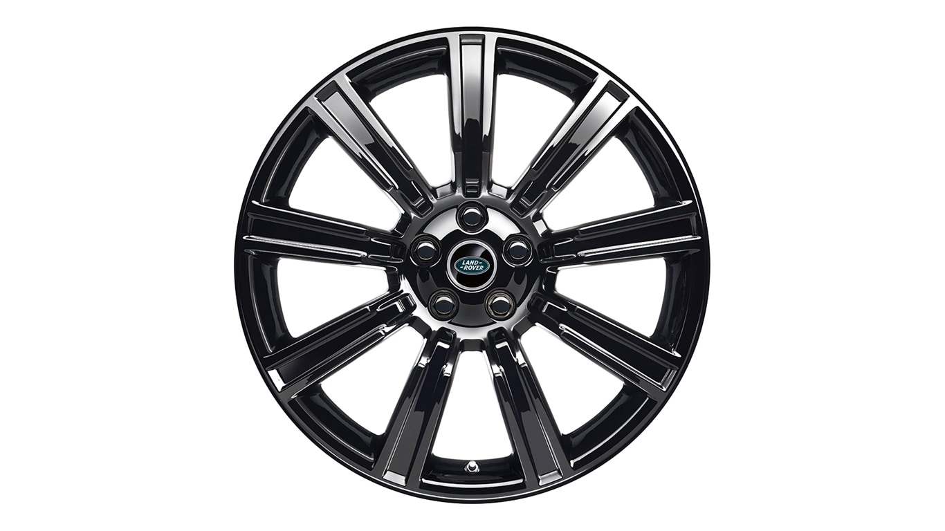 "Alloy Wheel - 21"" Style 9001, 9 spoke, Gloss Black"