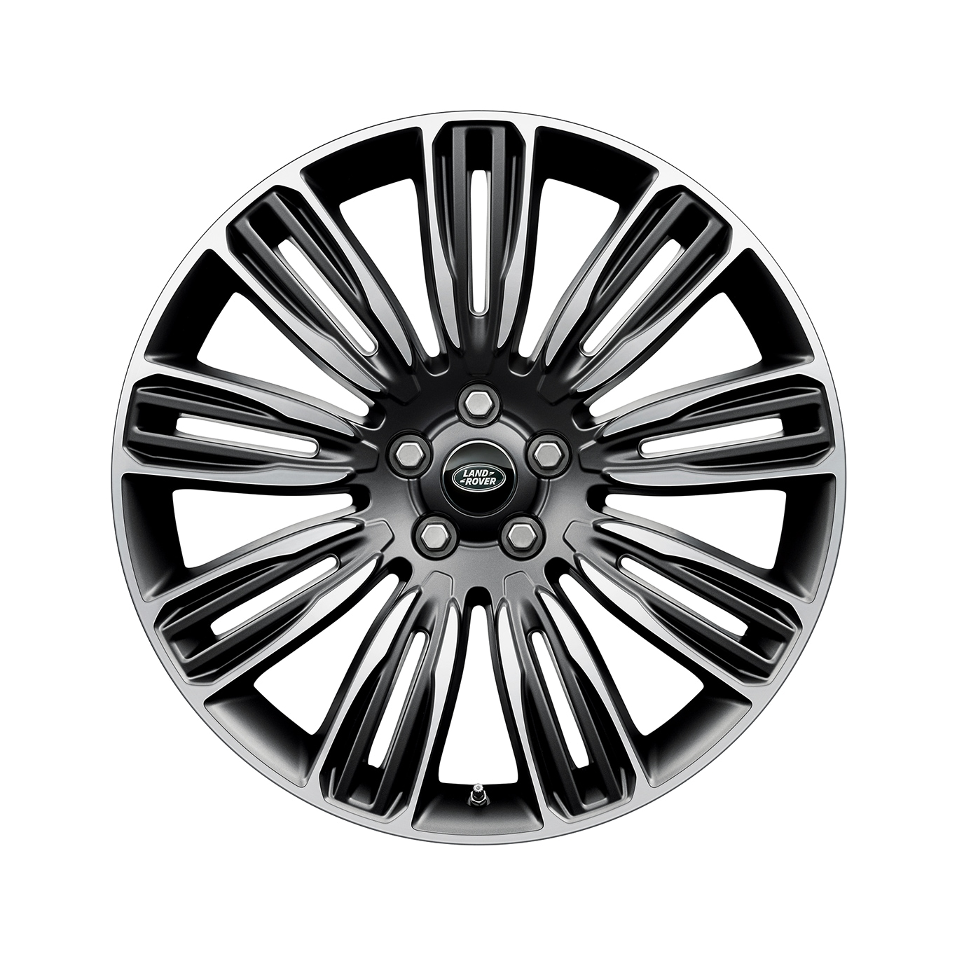 "Alloy Wheel - 22"" Style 9012, 9 split-spoke, Mid-Silver Diamond Turned finish"
