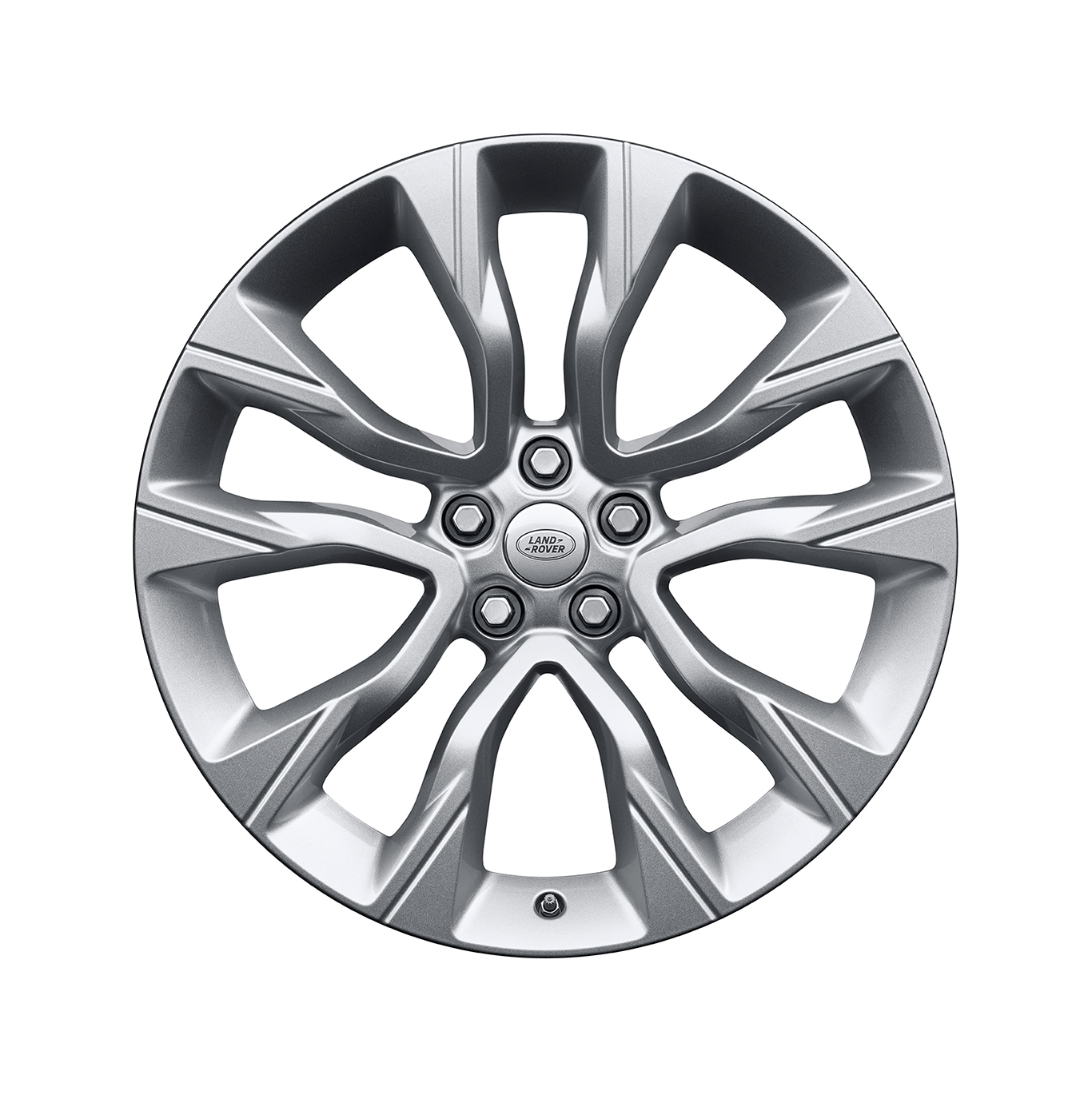"Alloy Wheel - 22"" Style 5086, 5 split-spoke, Silver"