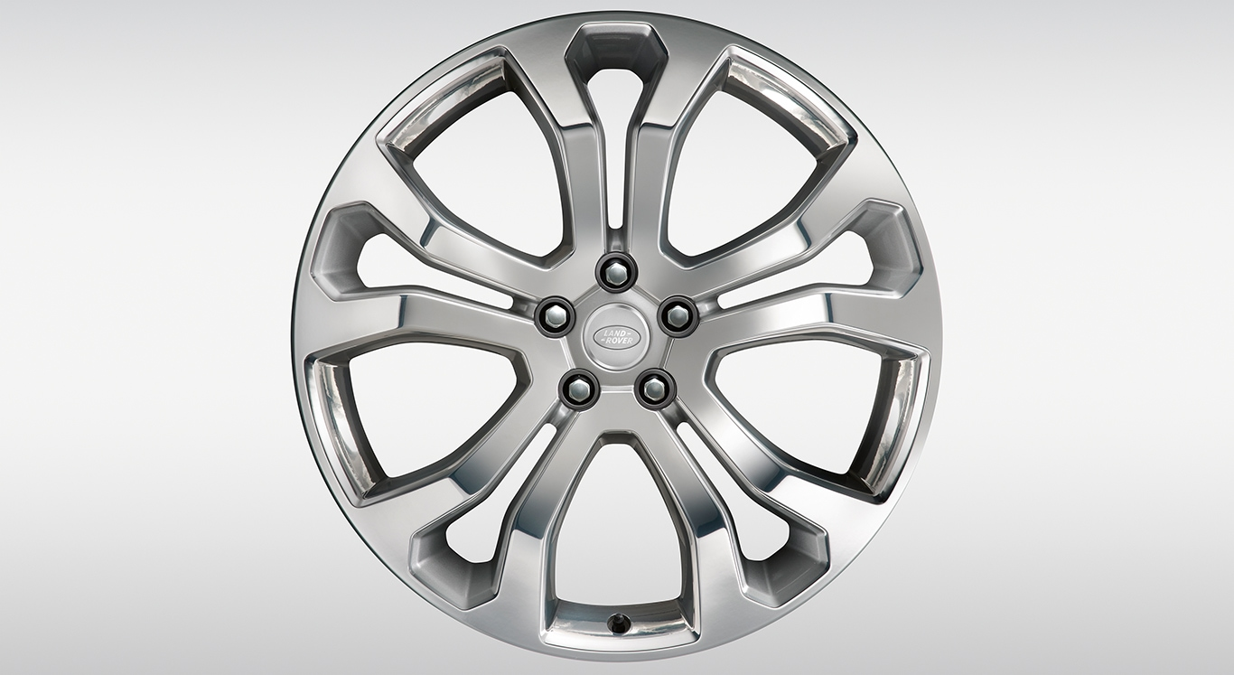 "알로이 휠 - 22"" Style 5014, 5 split-spoke, Forged, Machine Polished"