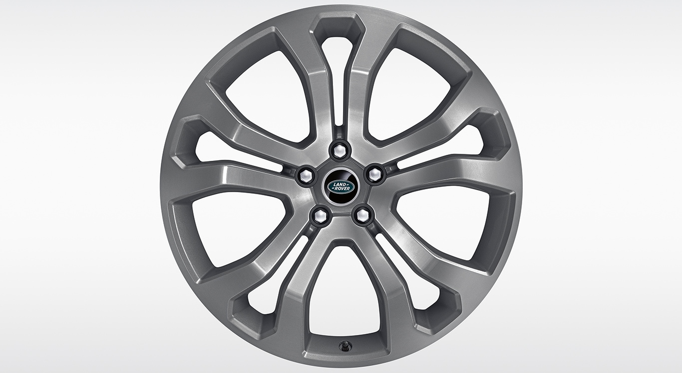 "Alloy Wheel - 22"" Style 5014, 5 split-spoke, Forged, Fully Painted with Technical Grey Gloss"