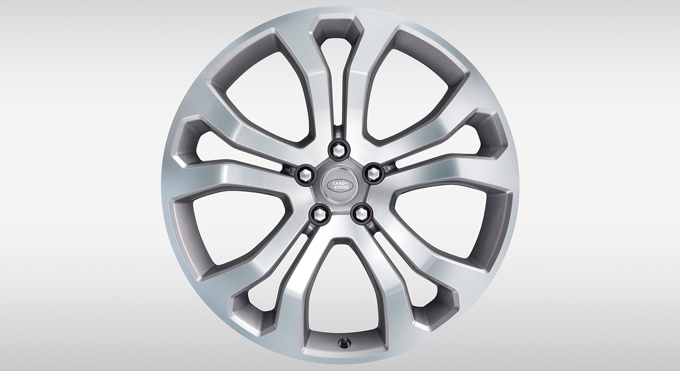 "Alloy Wheel - 22"" Style 5014, 5 split-spoke, Forged, Ceramic Polished Light Silver"