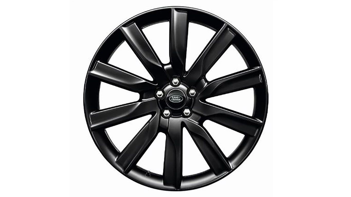 "Alloy Wheel - 21"" 10 Spoke 'Style 1033' with Gloss Black finish"